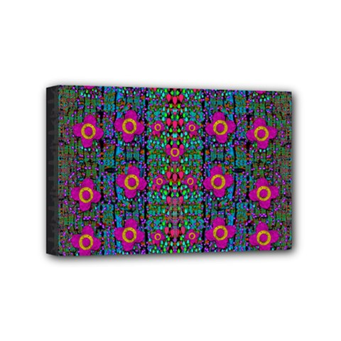 Flowers From Paradise Colors And Star Rain Mini Canvas 6  X 4  by pepitasart