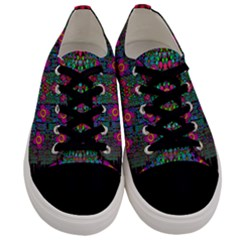 Flowers From Paradise Colors And Star Rain Men s Low Top Canvas Sneakers