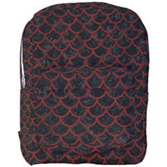 Scales1 Black Marble & Reddish Brown Wood (r) Full Print Backpack