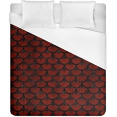 Scales3 Black Marble & Reddish Brown Wood Duvet Cover (california King Size)