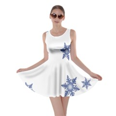 Star Snow Blue Rain Cool Skater Dress by AnjaniArt