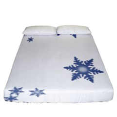 Star Snow Blue Rain Cool Fitted Sheet (king Size) by AnjaniArt