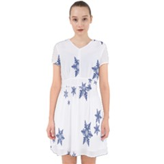 Star Snow Blue Rain Cool Adorable In Chiffon Dress