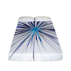 Fireworks Light Blue Space Happy New Year Fitted Sheet (full/ Double Size) by AnjaniArt