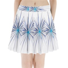 Fireworks Light Blue Space Happy New Year Pleated Mini Skirt by AnjaniArt