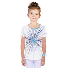 Fireworks Light Blue Space Happy New Year Kids  One Piece Tee
