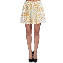 Fireworks Light Yellow Space Happy New Year Skater Skirt