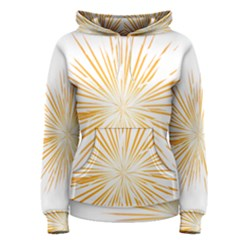 Fireworks Light Yellow Space Happy New Year Women s Pullover Hoodie