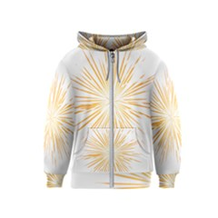Fireworks Light Yellow Space Happy New Year Kids  Zipper Hoodie