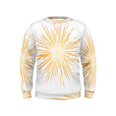 Fireworks Light Yellow Space Happy New Year Kids  Sweatshirt