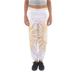 Fireworks Light Yellow Space Happy New Year Women s Jogger Sweatpants