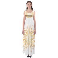 Fireworks Light Yellow Space Happy New Year Empire Waist Maxi Dress