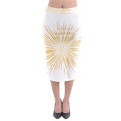 Fireworks Light Yellow Space Happy New Year Midi Pencil Skirt