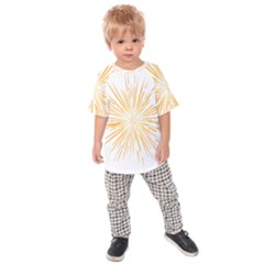 Fireworks Light Yellow Space Happy New Year Kids Raglan Tee by AnjaniArt