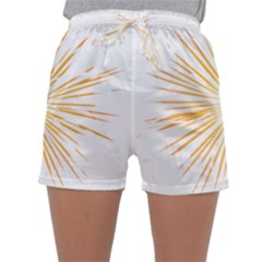 Fireworks Light Yellow Space Happy New Year Sleepwear Shorts