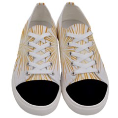 Fireworks Light Yellow Space Happy New Year Women s Low Top Canvas Sneakers