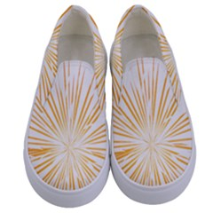Fireworks Light Yellow Space Happy New Year Kids  Canvas Slip Ons