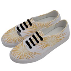 Fireworks Light Yellow Space Happy New Year Men s Classic Low Top Sneakers by AnjaniArt