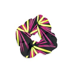 Fireworks Pink Red Yellow Black Sky Happy New Year Velvet Scrunchie by AnjaniArt