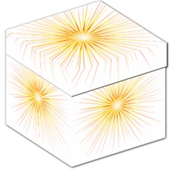 Fireworks Light Yellow Space Happy New Year Red Storage Stool 12   by AnjaniArt