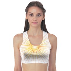 Fireworks Light Yellow Space Happy New Year Red Sports Bra