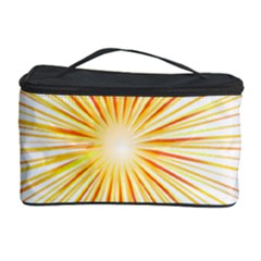 Fireworks Light Yellow Space Happy New Year Red Cosmetic Storage Case