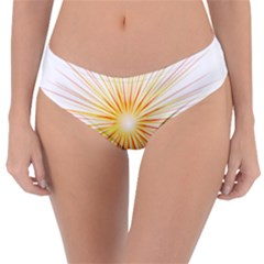 Fireworks Light Yellow Space Happy New Year Red Reversible Classic Bikini Bottoms by AnjaniArt
