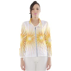 Fireworks Light Yellow Space Happy New Year Red Wind Breaker (women) by AnjaniArt