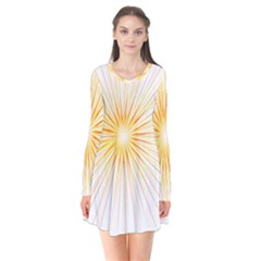 Fireworks Light Yellow Space Happy New Year Red Flare Dress by AnjaniArt