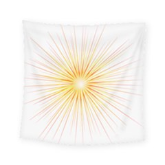 Fireworks Light Yellow Space Happy New Year Red Square Tapestry (small) by AnjaniArt