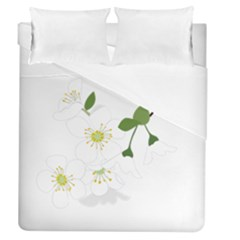 Flower Floral Sakura Duvet Cover (queen Size) by AnjaniArt