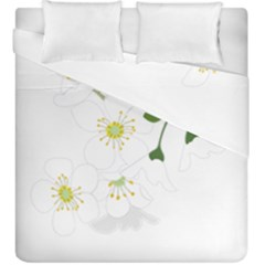 Flower Floral Sakura Duvet Cover Double Side (king Size) by AnjaniArt