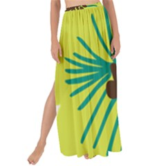 Flower Floral Green Maxi Chiffon Tie Up Sarong