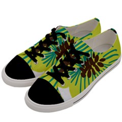 Flower Floral Green Men s Low Top Canvas Sneakers by AnjaniArt