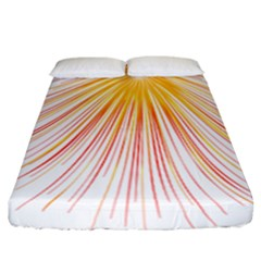 Fireworks Yellow Light Fitted Sheet (california King Size) by AnjaniArt