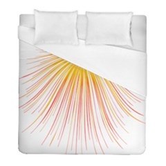 Fireworks Yellow Light Duvet Cover (full/ Double Size) by AnjaniArt