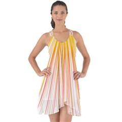 Fireworks Yellow Light Show Some Back Chiffon Dress by AnjaniArt