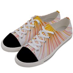 Fireworks Yellow Light Women s Low Top Canvas Sneakers by AnjaniArt