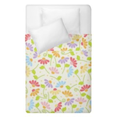 Flower Rainbow Sexy Leaf Plaid Vertical Horizon Duvet Cover Double Side (single Size) by AnjaniArt