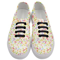 Flower Rainbow Sexy Leaf Plaid Vertical Horizon Women s Classic Low Top Sneakers
