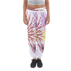 Happy New Year City Semmes Fireworks Rainbow Red Blue Yellow Purple Sky Women s Jogger Sweatpants