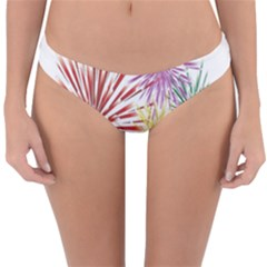 Happy New Year City Semmes Fireworks Rainbow Red Blue Yellow Purple Sky Reversible Hipster Bikini Bottoms by AnjaniArt