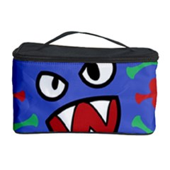 Monster Virus Blue Cart Big Eye Red Green Cosmetic Storage Case by AnjaniArt