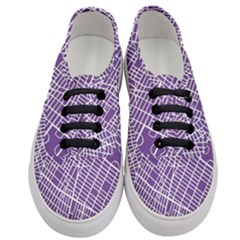 New York Map Art City Street Purple Line Women s Classic Low Top Sneakers