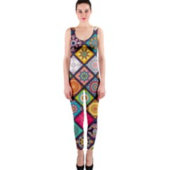 Flower Star Sign Rainbow Sexy Plaid Chevron Wave Onepiece Catsuit