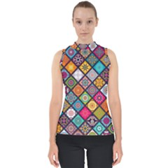 Flower Star Sign Rainbow Sexy Plaid Chevron Wave Shell Top