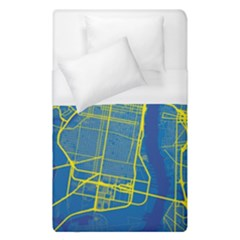 Philadelphia New York Map Art City Duvet Cover (single Size)