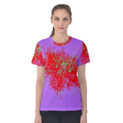 Spot Paint Red Green Purple Sexy Women s Cotton Tee
