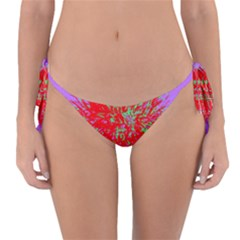 Spot Paint Red Green Purple Sexy Reversible Bikini Bottom by AnjaniArt