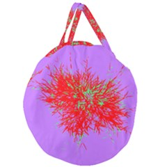 Spot Paint Red Green Purple Sexy Giant Round Zipper Tote by AnjaniArt